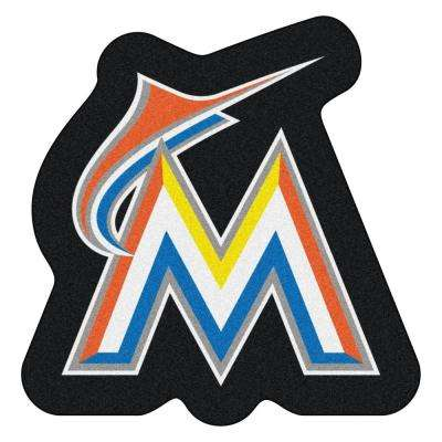 MLB - Miami Marlins 30 in. x 30.7 in. Indoor Area Rug Mascot Mat