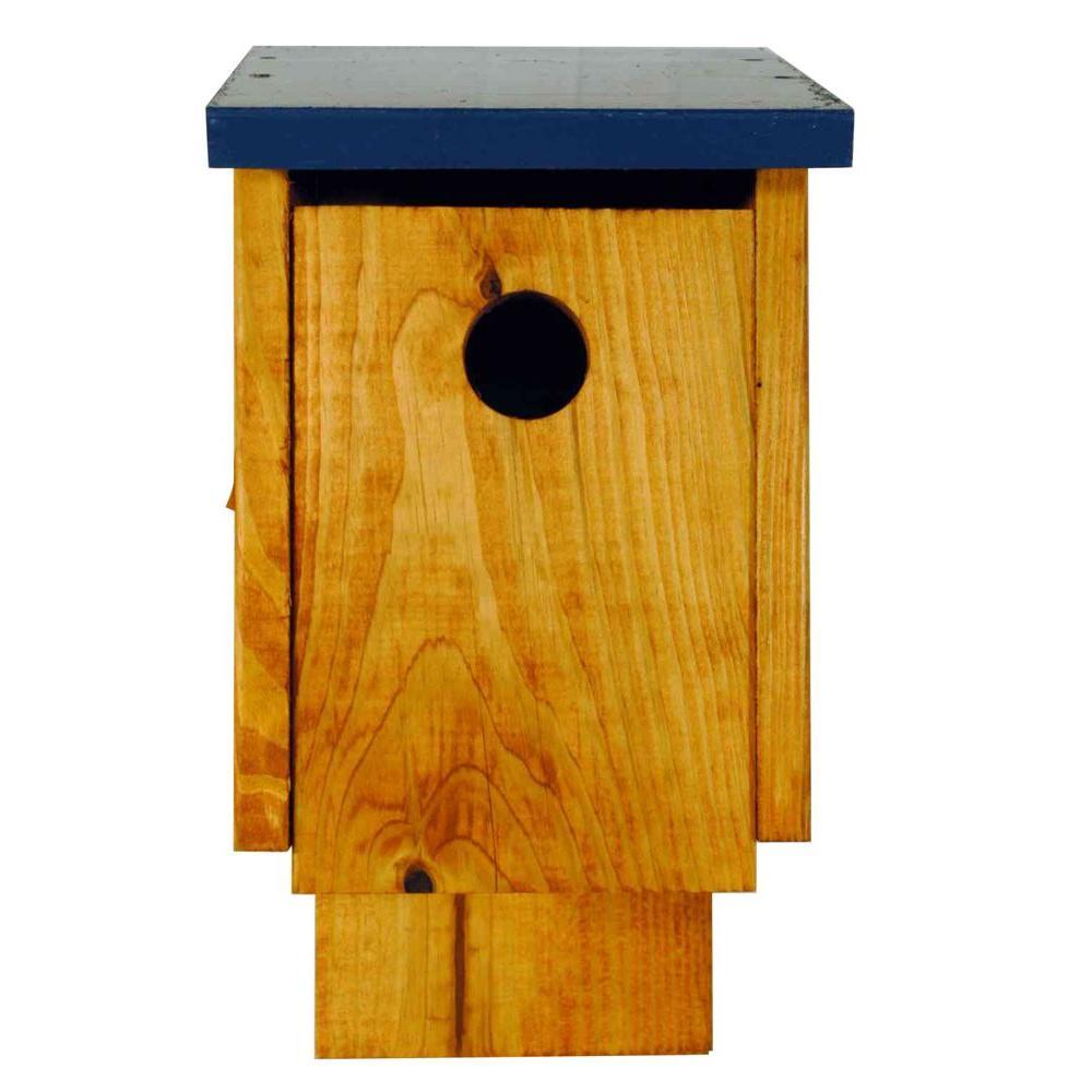 Finished Pine Blue Bird House