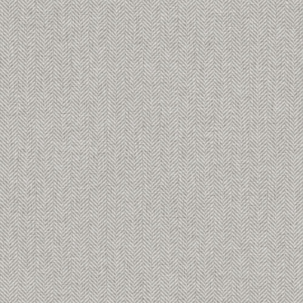 Herringbone Grey Non-Woven Wallpaper