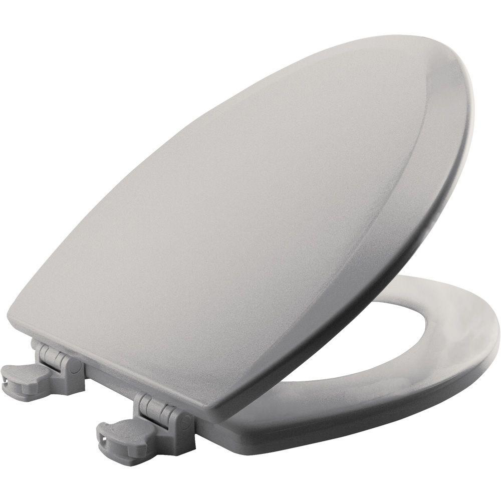 easy home toilet seat. null Lift Off Elongated Closed Front Toilet Seat in Ice Grey 1500EC 062