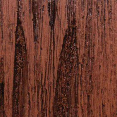 3 in. x 6 in. Garage Door Composite Material Sample in Pecky Cypress Species with Dark Finish