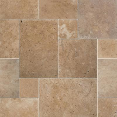 Tuscany Beige Travertine Paver Tumbled-Kits (30-Kits/480 sq. ft./Pallet)