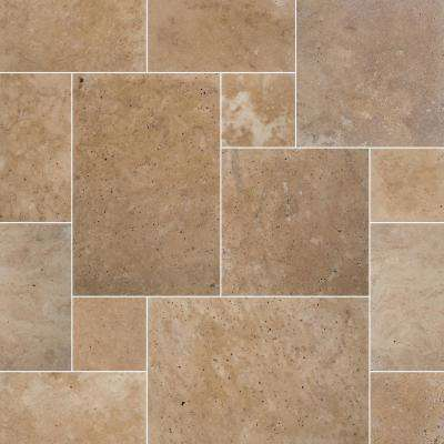 Tuscany Beige 24 in. x 16 in. x 1.18 in.Travertine Paver Tumbled-Kits (30-Kits/480 sq. ft./Pallet)
