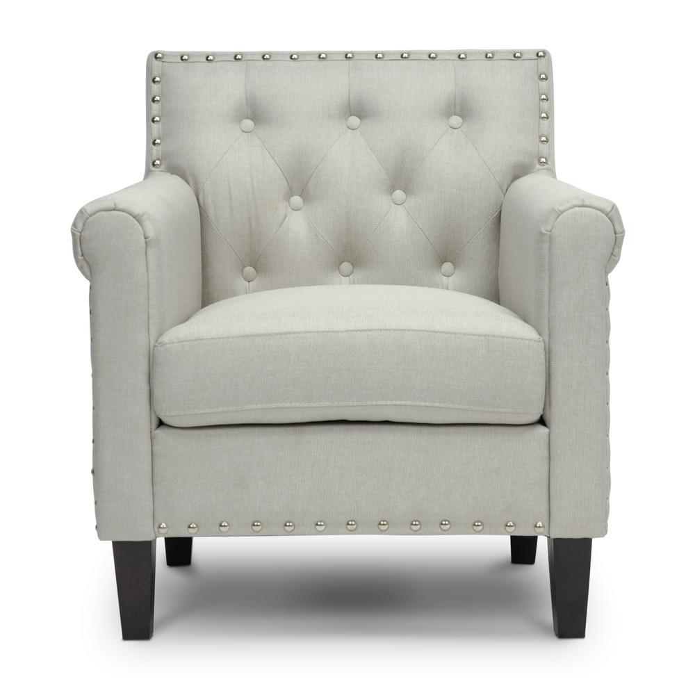 Thalassa Gray Fabric Upholstered Arm Chair