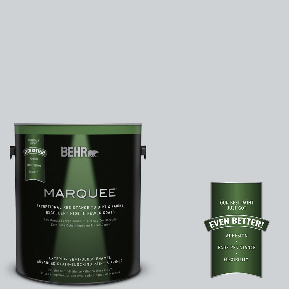 BEHR MARQUEE 1-gal. #N510-1 Silver Shadow Semi-Gloss Enamel Exterior Paint