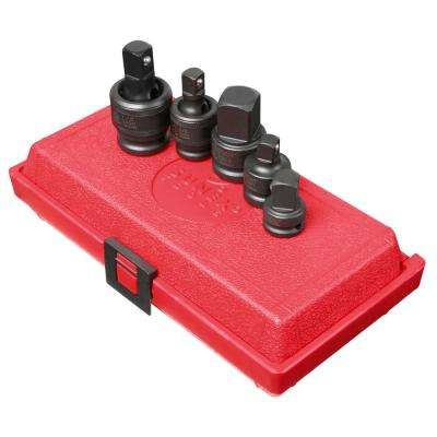 3/8 in. and 1/2 in. Drive Adapter and Universal Joint Impact Set (5-Piece)