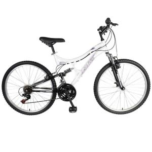 Mantis Orchid Full Suspension Mountain Bike, 26 inch Wheels, 17 inch Frame, Women's Bike in Pearl/Purple by Mantis