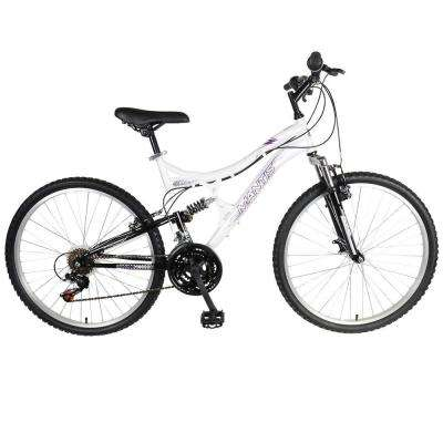 Orchid Full Suspension Mountain Bike, 26 in. Wheels, 17 in. Frame, Women's Bike in Pearl/Purple