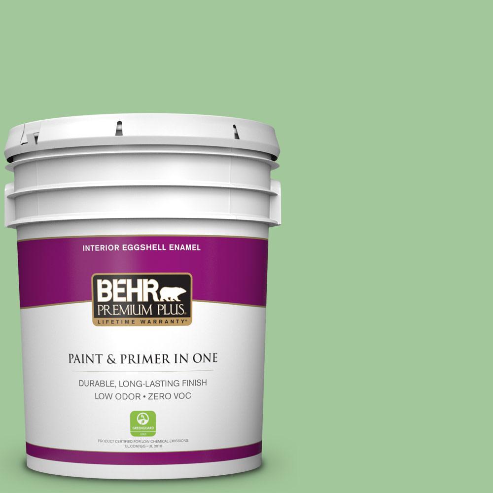 BEHR Premium Plus 5-gal. #M390-4 Gingko Eggshell Enamel Interior Paint