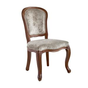 Rae Walnut and Beige Dining Chair (Set of 2)