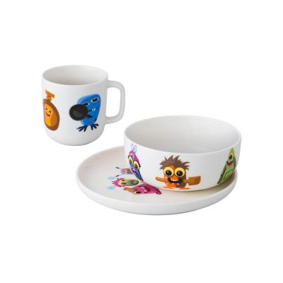 Essentials MonsterChefz 3-Piece White Porcelain Set