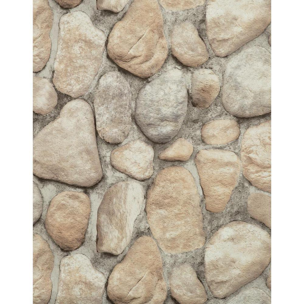 York Wallcoverings River Rock Paper Strippable Roll Wallpaper Covers 57 Sq Ft Rn1064 The Home Depot