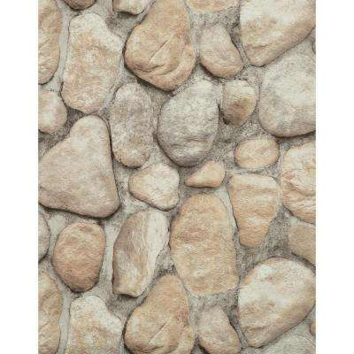 River Rock Paper Strippable Roll Wallpaper (Covers 57 sq. ft.)