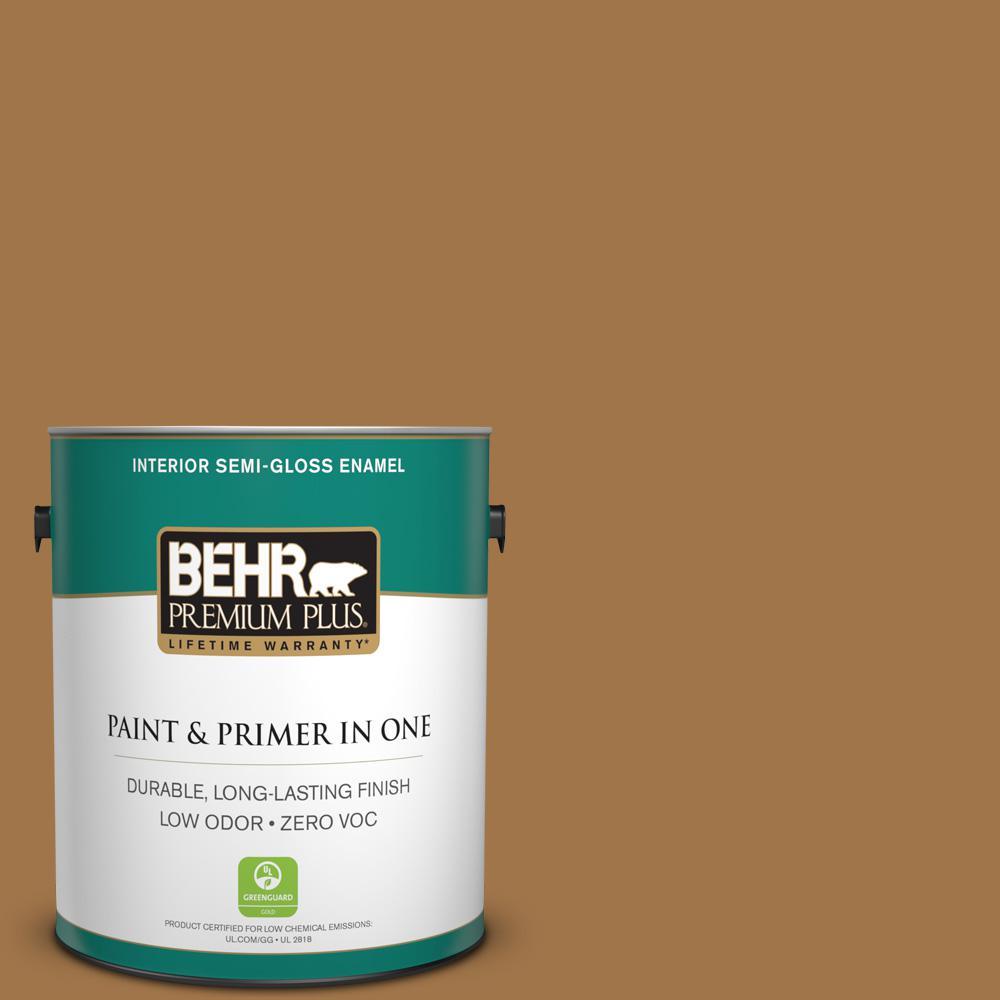 1-gal. #S290-7 Wave of Grain Semi-Gloss Enamel Interior Paint