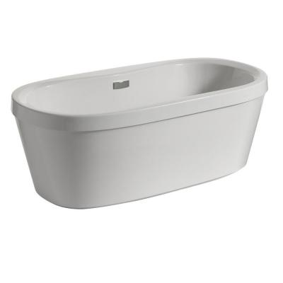 Synergy 60 in. Acrylic Flatbottom Bathtub with Integrated Waste and Overflow in White