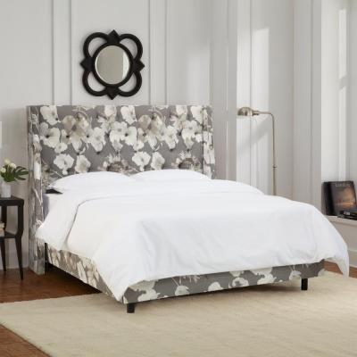 Willow Gray Queen Upholstered Bed