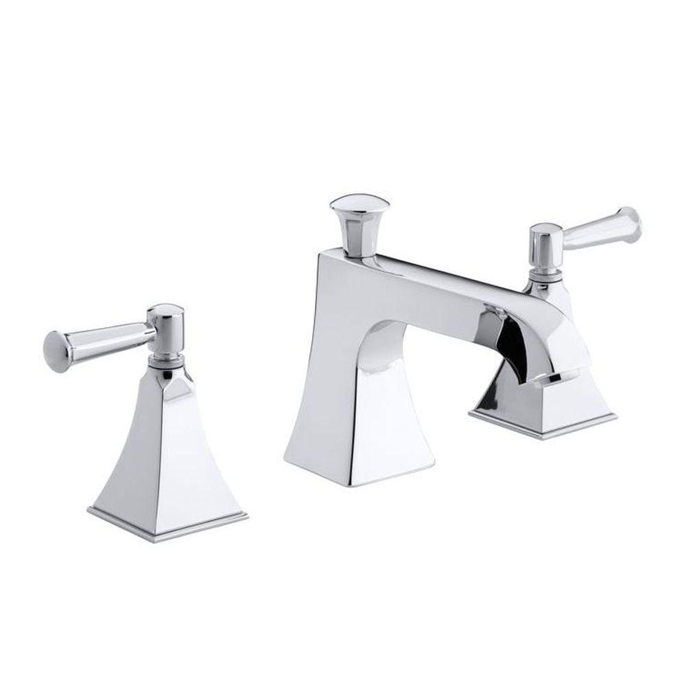 KOHLER Memoirs 2-Handle Bath or Deck-Mount High-Flow Bath Faucet Trim in Polished Chrome (Valve Not Included)