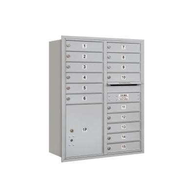 3700 Series 41 in. 11 Door High Unit Aluminum Private Rear Loading 4C Horizontal Mailbox with 15 MB1 Doors/1 PL5