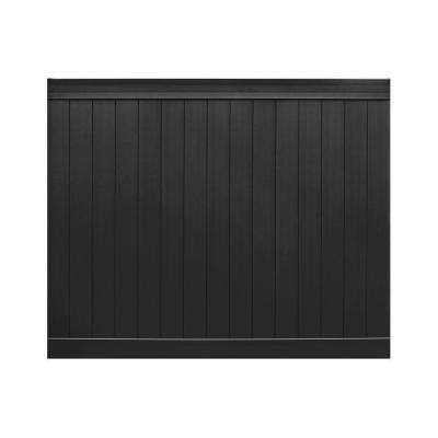 Pro Series 6 ft. H x 8 ft. W Black Vinyl Anaheim Privacy Fence Panel - Unassembled