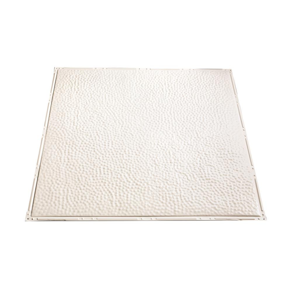 Great Lakes Tin Chicago 2 ft. x 2 ft. Nail Up Metal Ceiling Tile in Antique White (Case of 5)