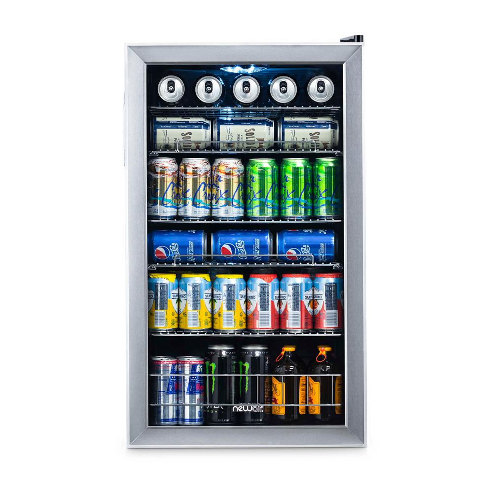NewAir 19 in. 126 (12 oz.) Can Stainless Steel Freestanding Beverage Cooler