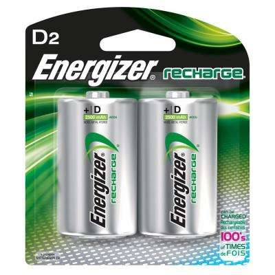 NiMH D 1.2-Volt Rechargeable Battery (2-Pack)