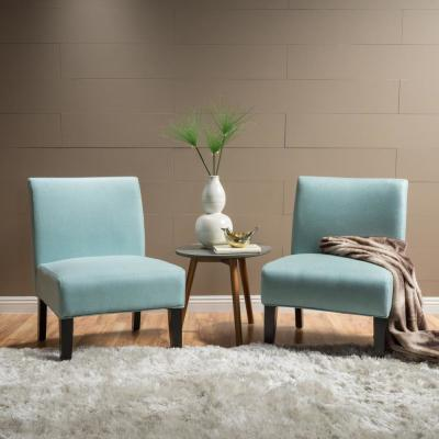 Kassi Light Blue Fabric Accent Chairs (Set of 2)