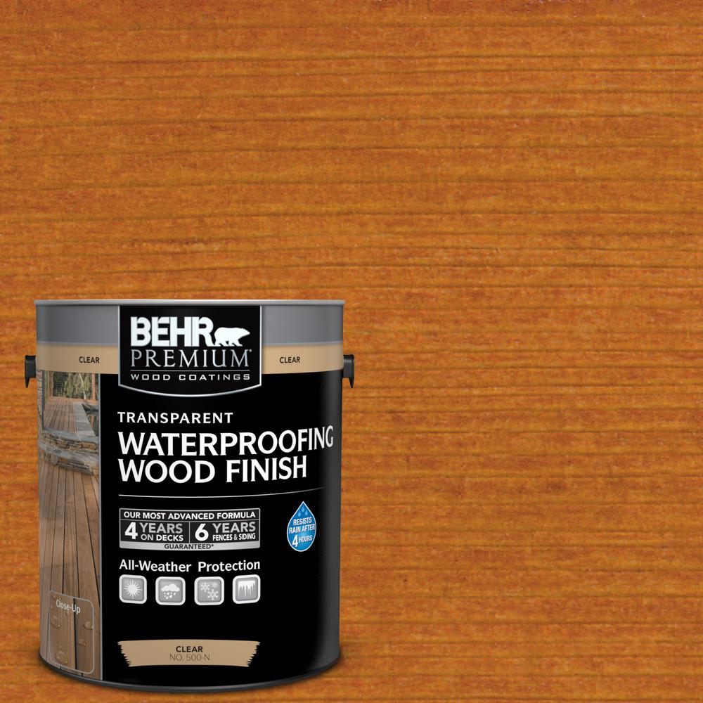 BEHR Premium 1 gal. #T-172 Natural Sequoia Transparent Waterproofing Exterior Wood Finish