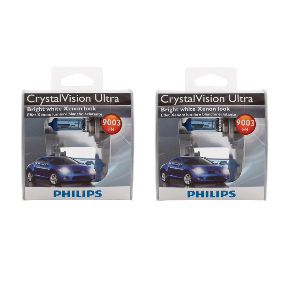 Philips 9003 Headlight CrystalVision Ultra Light Bulb (2-Pack)