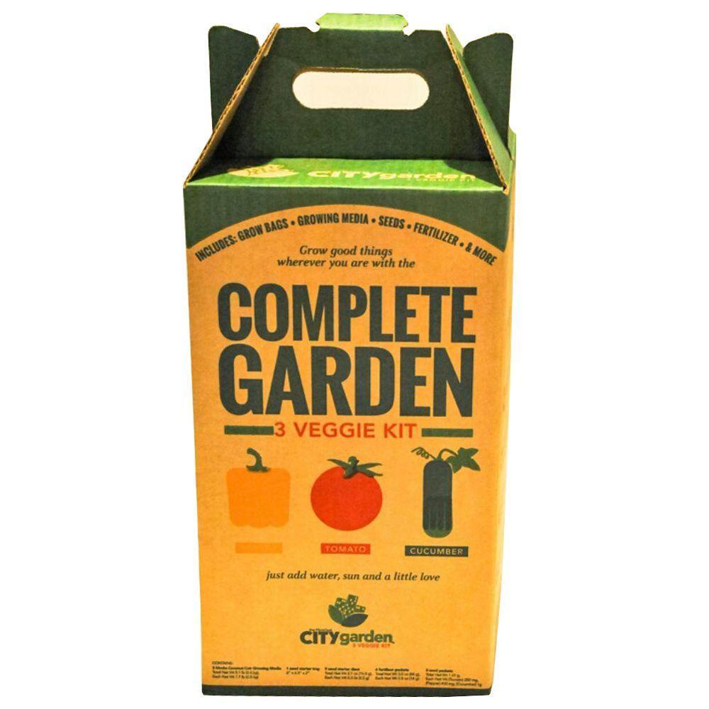 FibreDust City Garden Complete Garden 3-Veggie Kit