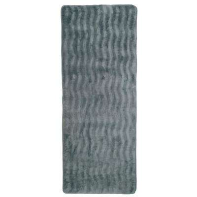 24.5 in. x 60 in. Memory Foam and Microfiber Bath Mat in Platinum