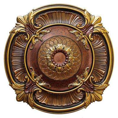 40 in. Spring Dreams II, Bronze, Gold and Copper, Polyurethane Hand Painted Ceiling Medallion