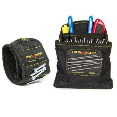 Magnetic Wristband and Magnetic Clip-On Pouch Set (2-Pack)