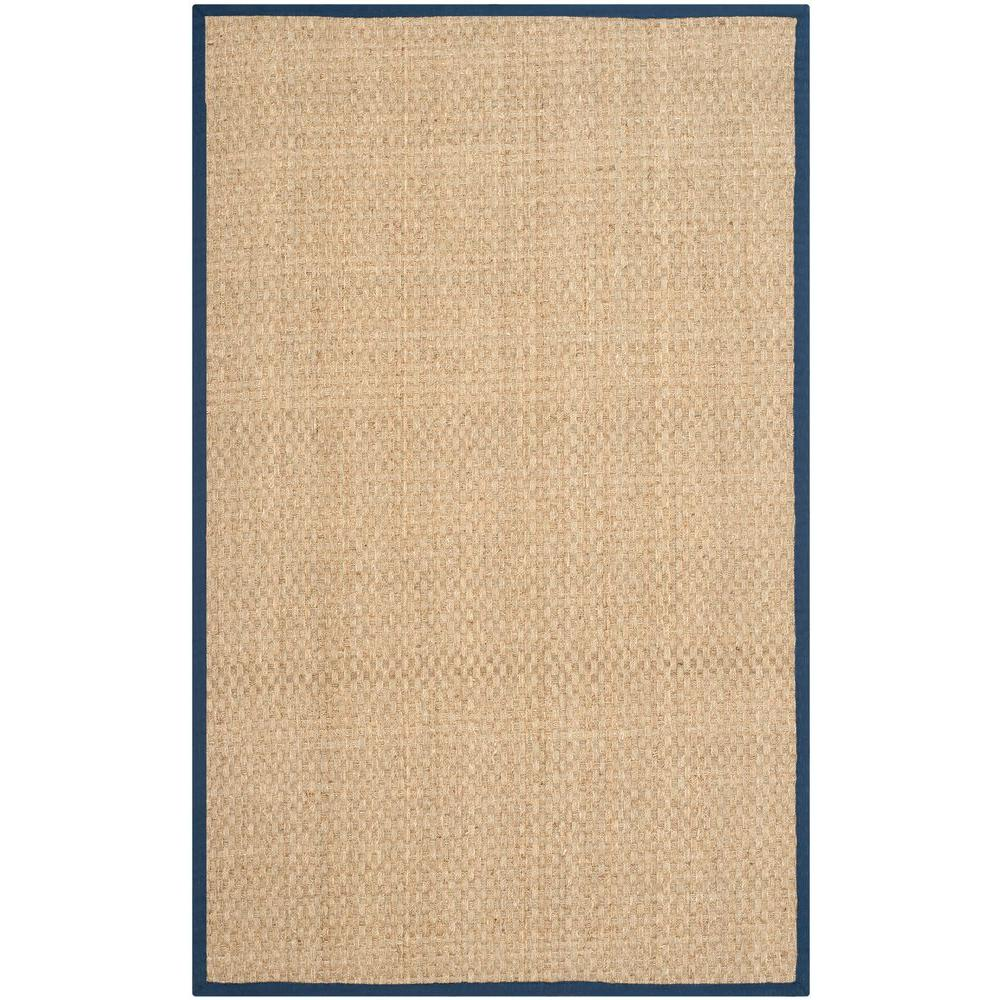 Natural Fiber Beige/Blue 3 ft. x 4 ft. Area Rug