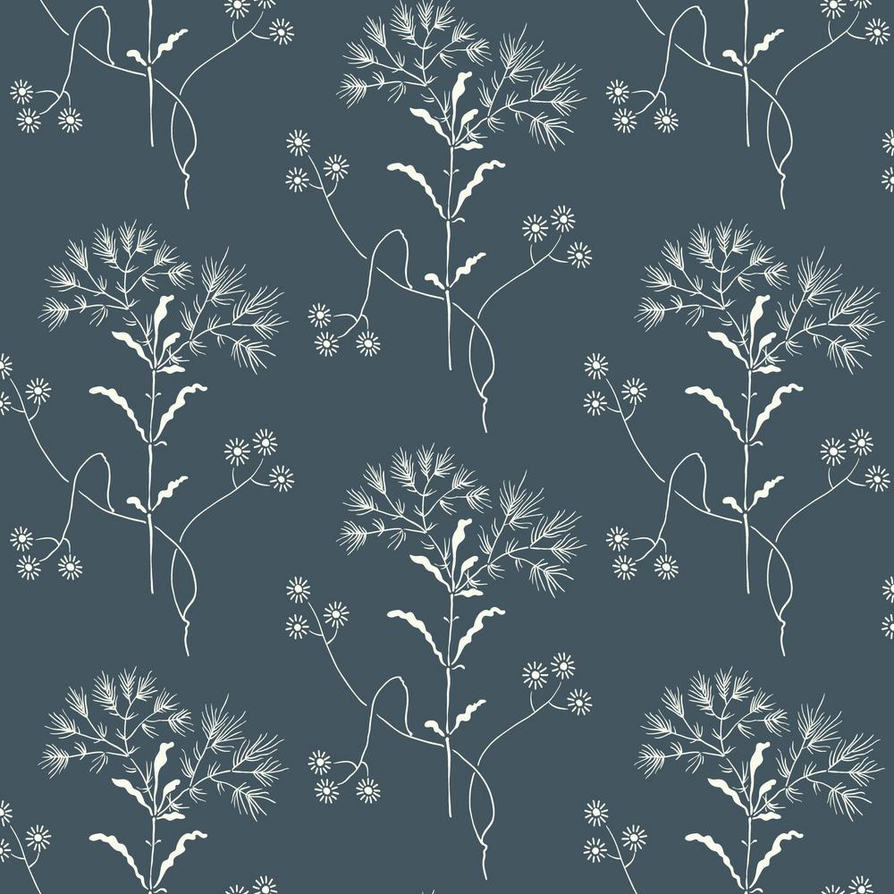 Magnolia Home By Joanna Gaines 56 Sq Ft Wildflower Wallpaper Me1518