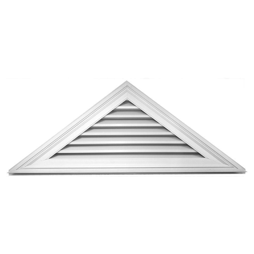 Builders Edge 9/12 Triangle Gable Vent #001 White