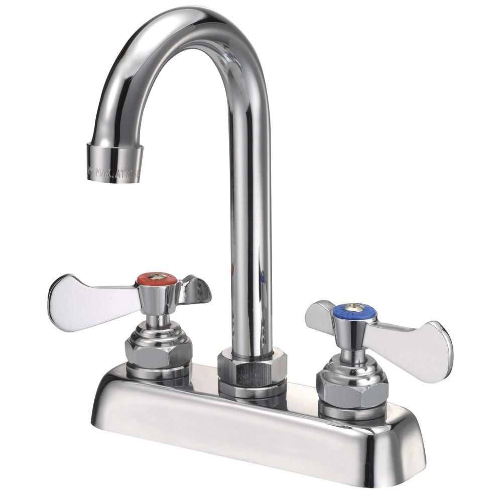 Binford Commercial 2-Handle Kitchen Faucet in Chrome