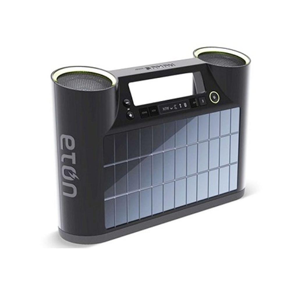 Eton Rukus Portable Bluetooth Sound System with Solar Panel - Black-DISCONTINUED