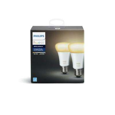 Hue White Ambiance A19 LED 60W Equivalent Dimmable Smart Wireless Light Bulb (2 Pack)