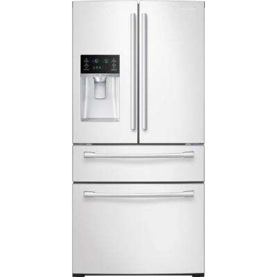 28.15 cu. ft. 4-Door French Door Refrigerator in White