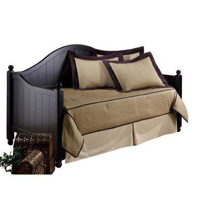 Augusta Rubbed Black Daybed with Suspension Deck and Roll-Out Trundle