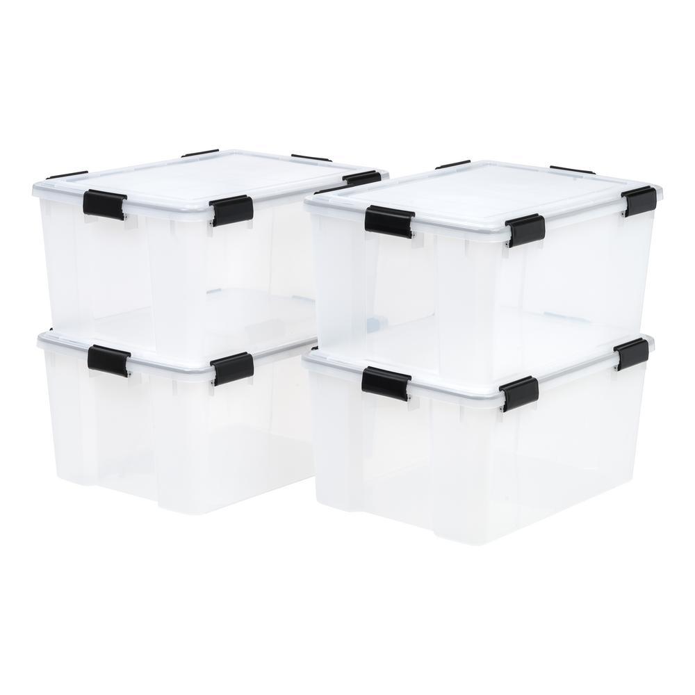 62-Qt. Weathertight Storage Box in Clear (4-Pack)
