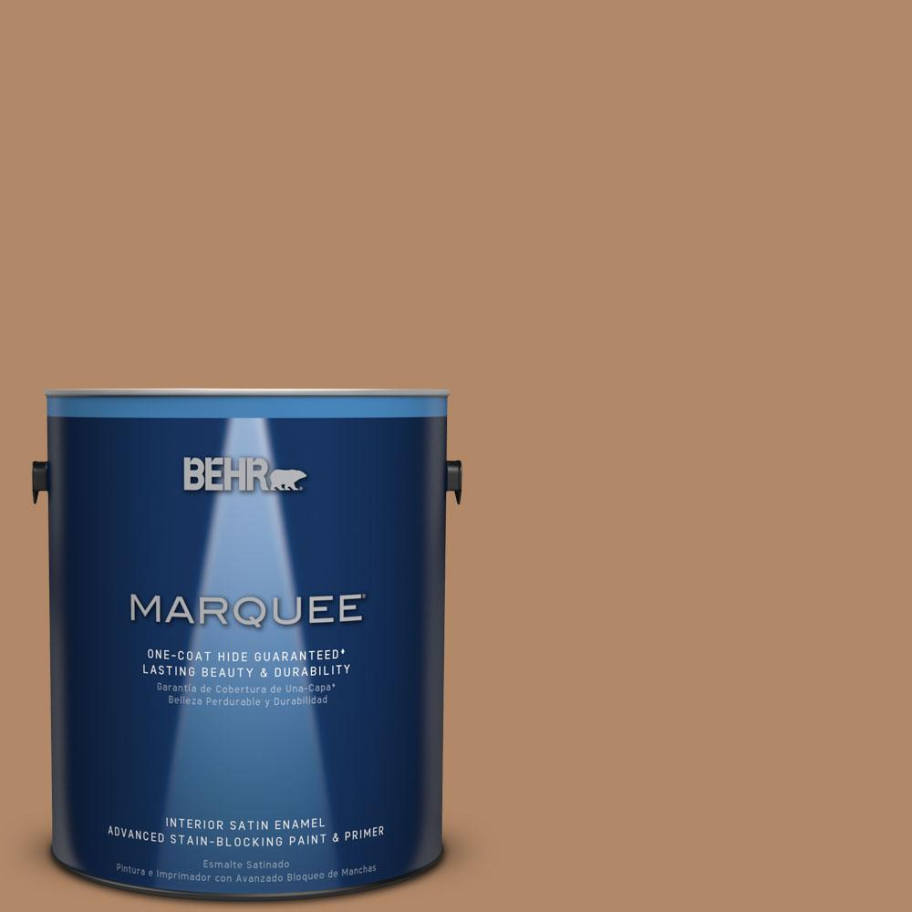 1 gal. #MQ2-2 Syrup One-Coat Hide Satin Enamel Interior Paint