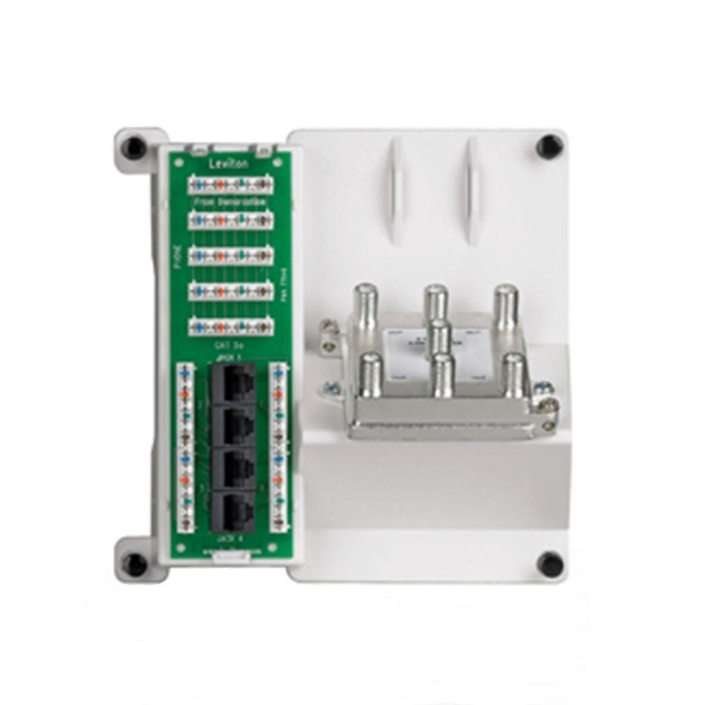 Expansion Board Module Structured Media Networking Wireless Leviton Wiring Panel 1x4 Combo Bridged Phone And Data With 6 Way