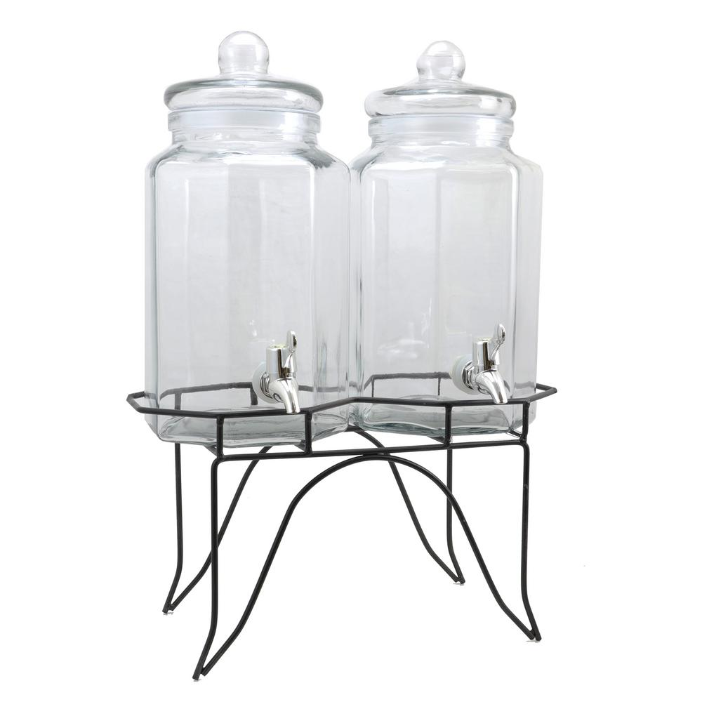 Party Duo Twin 4 Qt. Glass Beverage Dispenser