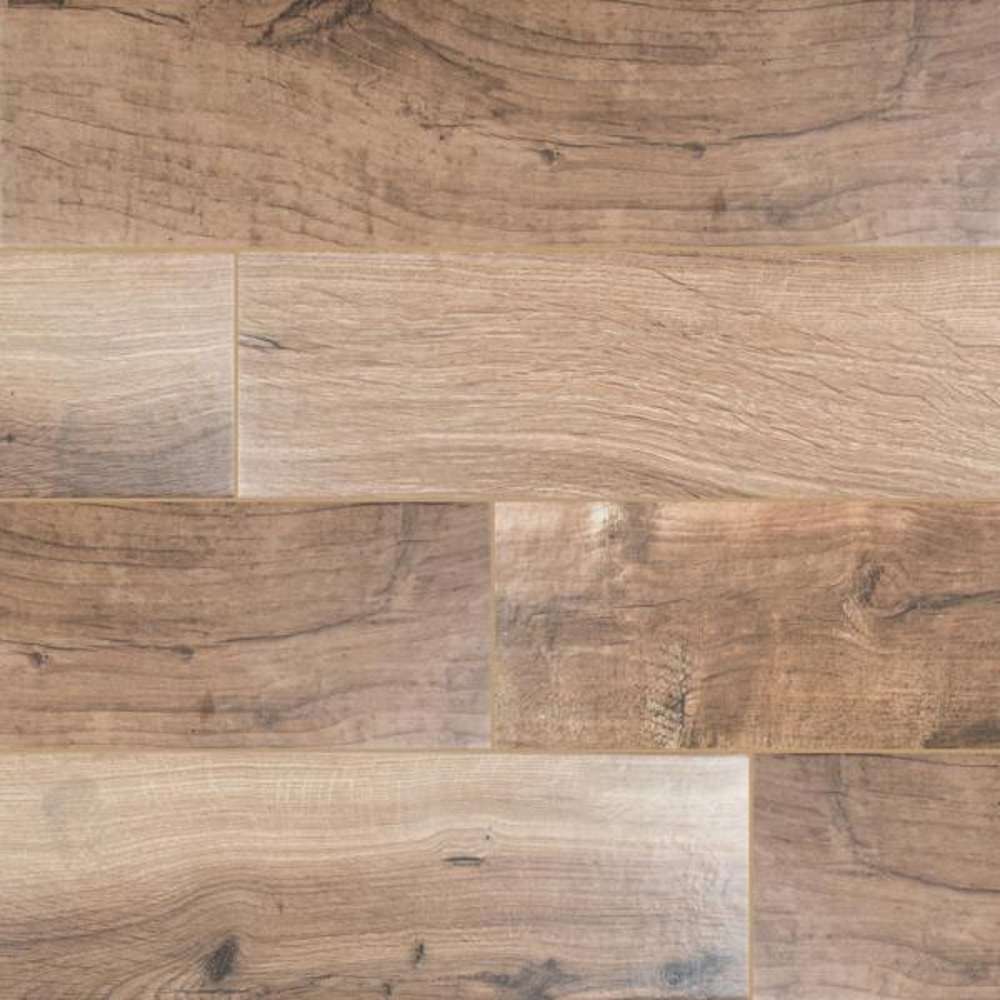 Arbor Cognac 6 in. x 36 in. Matte Porcelain Floor and Wall Tile (15 sq. ft. / case)