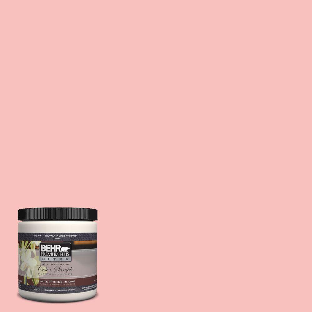BEHR Premium Plus Ultra 8 oz. #160A-3 Pink Hydrangea Interior/Exterior Paint Sample