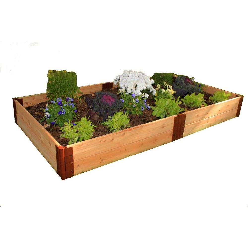 Frame It All One Inch Series 4 ft. x 8 ft. x 12 in. Cedar Raised Garden Bed Kit