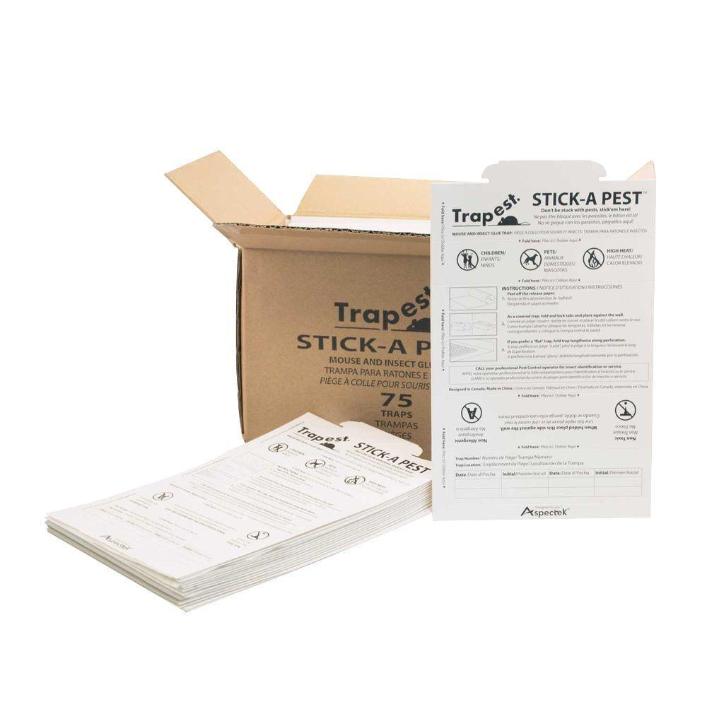 Aspectek Trapest Glue Traps (75-Pack)