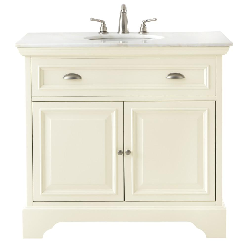 Home decorators collection sadie 38 in w vanity in matte for Home decorators vanity top